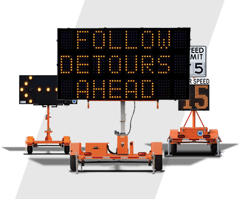 Highway Safety Traffic Control Sign Arrow Board Message